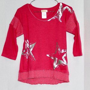 NWT Ambria Pink Star Top